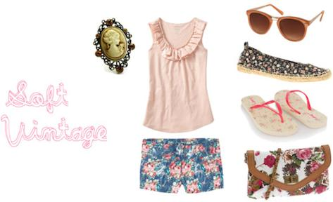 This Outfit Is A Transition From Feminine Spring Look To Summer The Main Theme Of Floral Prints